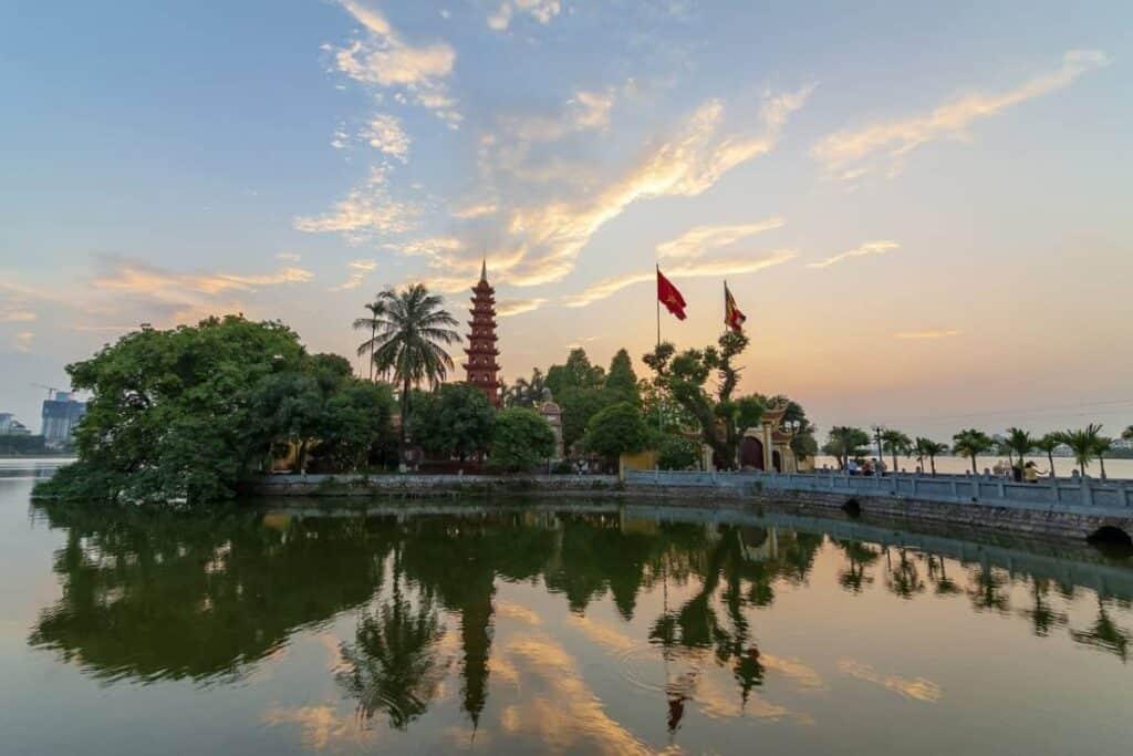 Hanoi Vietnam Video Production Company Filma Hanoi Tran Quoc Pagoda Buddhist temple